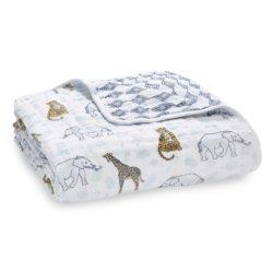 Aden+Anais 4-х слойное муслиновое одеяло Jungle 120×120см