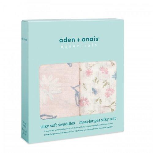 Aden+Anais Набор из 2 бамбуковых пеленок Vintage floral 112×112 см