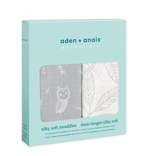 Aden+Anais Набор из 2 бамбуковых пеленок Woodsy 112×112 см