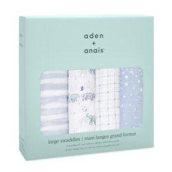 Aden+Anais Набор из 4 муслиновых пеленок Rising stars 120×120 см