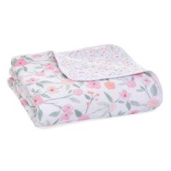 Aden+Anais 4-х слойное муслиновое одеяло Ma fleur 120×120см