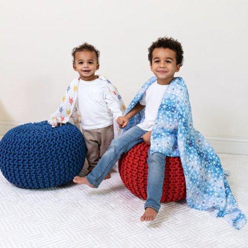 Aden+Anais Набор из 2 муслиновых пеленок Superman 112×112 см