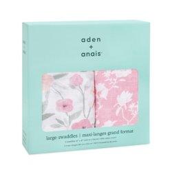 Aden+Anais Набор из 2 муслиновых пеленок Ma fleur 120×120 см