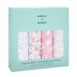 Aden+Anais Набор из 4 муслиновых пеленок Ma fleur 120×120 см