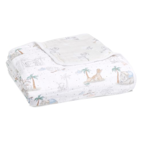 Aden+Anais 4-х слойное муслиновое одеяло My darling Dumbo 120×120см