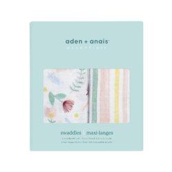 Aden+Anais Набор из 2 муслиновых пеленок Floral fauna 112×112 см