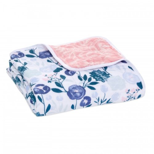 Aden+Anais 4-х слойное муслиновое одеяло Flowers bloom 112×112см