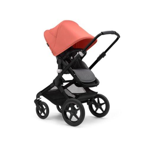 Bugaboo Fox3 коляска 2 в 1 Black/ Grey Melange/ Sunrise Red