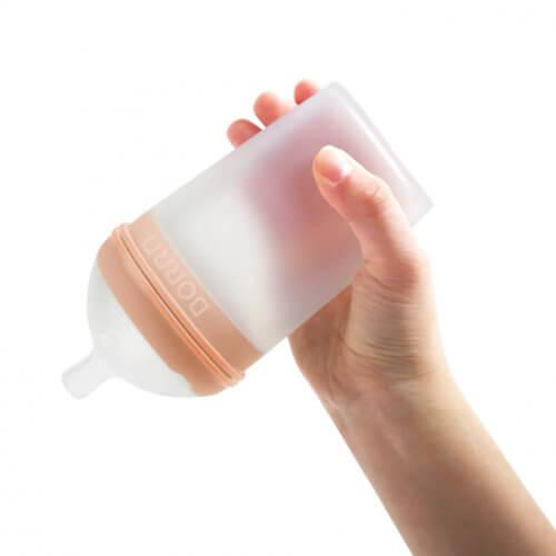 BORRN бутылочка для кормления из силикона 240 мл цвет оранжевый
