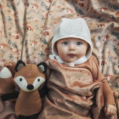 Elodie плед-одеяло Velvet — Northern Star Terracotta