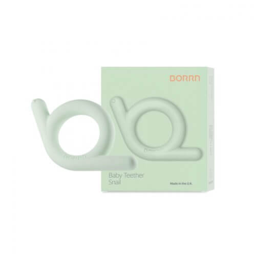 BORRN прорезыватель для зубов из мягкого силикона Улитка